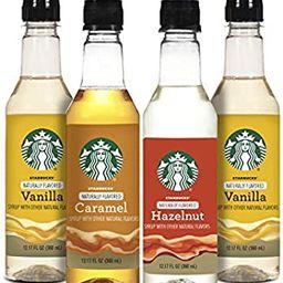 Starbucks Starbuck Variety Syrup 4pk, Variety Pack   Amazon (US)