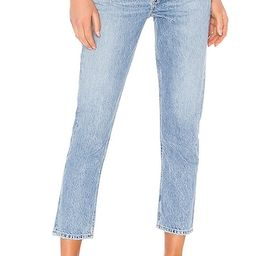 Riley High Rise Straight Crop in Blur | Revolve Clothing (Global)