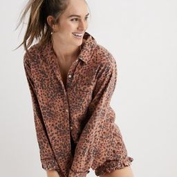 Aerie Flannel Pajama Shirt | American Eagle Outfitters (US & CA)