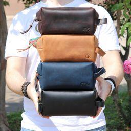 Personalized Leather Dopp Kit Customized Groomsmen Gift | Etsy | Etsy (US)