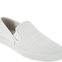 Vince Camuto Leather Slip On Sneakers - Cariana | QVC
