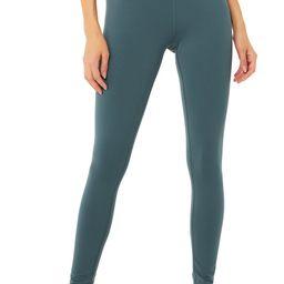 High-Waist Airbrush Legging in Deep Jade, Size: Small   Alo Yoga®   Alo Yoga
