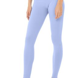 Airbrush Legging - Solid in Marina, Size: Medium   Alo Yoga®   Alo Yoga