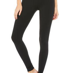 Airbrush Legging - Solid in Black, Size: Large   Alo Yoga®   Alo Yoga