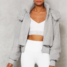 Alo Yoga®   Foxy Sherpa Jacket in Dove Grey, Size: Small   Alo Yoga