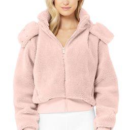 Foxy Sherpa Jacket in Pale Mauve, Size: Medium   Alo Yoga®   Alo Yoga