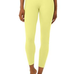 7/8 High-Waist Airbrush Legging in Neon Shock Yellow, Size: Large   Alo Yoga®   Alo Yoga