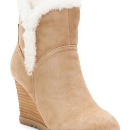 Faux Fur Lined Suede Wedge Booties | TJ Maxx