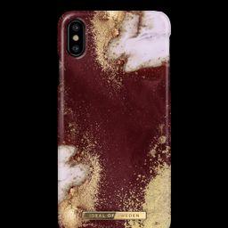 Fashion Case iPhone X/XS Golden Burgundy Marbl | iDeal of Sweden (CA)