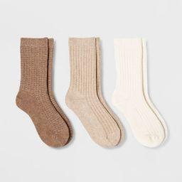 Women's 3pk Waffle Crew Socks - Universal Thread™ 4-10 | Target