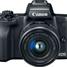 Canon EOS M50 Mirrorless Camera with EF-M 15-45mm f/3.5-6.3 IS STM Zoom Lens Black 2680C011 - Bes...   Best Buy U.S.
