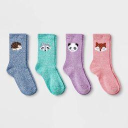 Girls' 4pk Super Soft Fuzzy Yarn Crew Socks - Cat & Jack™   Target