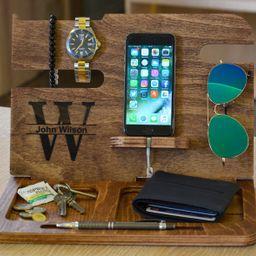 Mens Wood Valet Box Mens Valet Stand Mens Wood Valet Tray | Etsy | Etsy (US)