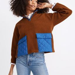 (Re)sourced Fleece Quilted-Pocket Popover Jacket | Madewell
