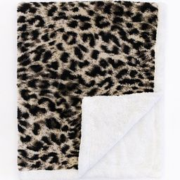 Nostalgic At Night Animal Print Brown Blanket DOORBUSTER | The Pink Lily Boutique