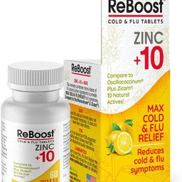 MediNatura ReBoost Zinc +10 - MAX Cold & Flu Symptom Relief - 60 Tabs - Lemon   Amazon (US)