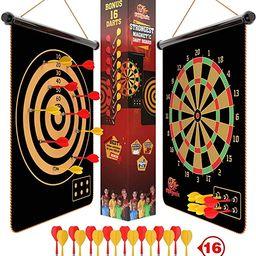 Fungenix, Magnetic Dart Board For Kids, Indoor Outdoor Darts Game, 12pcs Magnetic Darts, Double S... | Amazon (US)