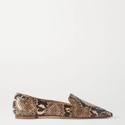 Aurora snake-effect leather loafers | Net-a-Porter (US)