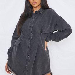 Plus Size Black Corset Waist Denim Dress | Missguided (US & CA)