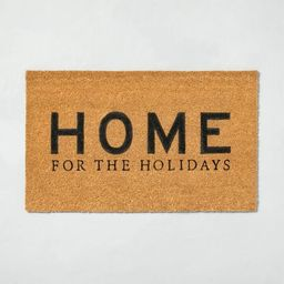 'Home For The Holidays' Seasonal Doormat Black - Hearth & Hand™ with Magnolia | Target