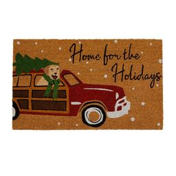 """Farmhouse Living Home for the Holidays Coir Doormat - 18"""" x 30"""" - Elrene Home Fashions 