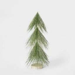 15in Unlit Tinsel Christmas Tree Decorative Figurine Green with Gold - Wondershop™ | Target