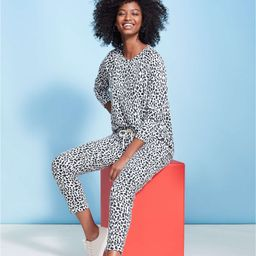 Lou & Grey Cheetah Print Terry Sweatpants   LOFT   LOFT