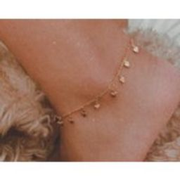 Heart throb gold plated anklet /16K gold plated / heart drop dainty chain / gold anklet / gifts for    Etsy (US)