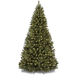 Green Spruce Artificial Christmas Tree with 900 Clear/White Lights | Wayfair North America