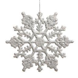 Glitter Snowflake Christmas Shaped Ornament (Set of 24) | Wayfair North America