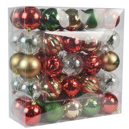 50 Piece Holiday Cottage Ball Ornament Set | Wayfair North America