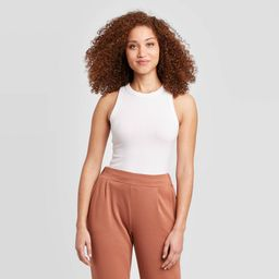 Women's Slim Fit Tank Top - A New Day White L | Target