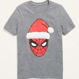 Marvel Comics™ Gender-Neutral Spider-Man Christmas Tee for Kids | Old Navy (US)