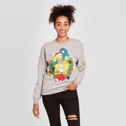 Women's The Simpsons Lightup Holiday Sweatshirt - Heather Gray | Target