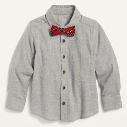 Button-Front Twill Shirt and Tie Set for Toddler Boys   Old Navy (US)