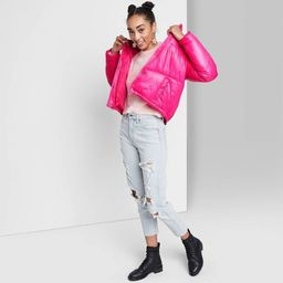 Women's Cropped Retro Puffer Jacket - Wild Fable™   Target