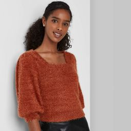 Women's Puff Short Sleeve Square Neck Pullover Sweater T-Shirt - Wild Fable™ | Target