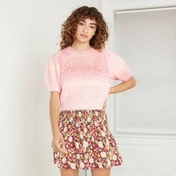 Women's Spacedye Short Sleeve Crewneck Pullover Sweater - Wild Fable™ | Target