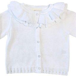 Petit Ami Girls' Pointelle Ruffle Collar Cardigan   Amazon (US)