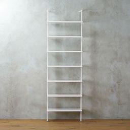 Stairway White Ladder Bookcase + Reviews | CB2 | CB2