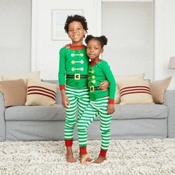 Kids' Holiday Elf Matching Family Pajama Set - Wondershop™ Green   Target