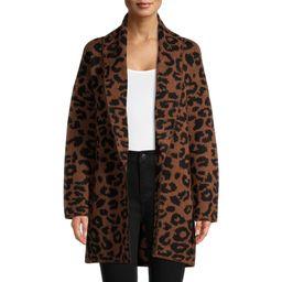Time and Tru Women's Shawl Collar Cardigan Sweater | Walmart (US)