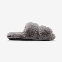 Cozy Faux Fur Double Band Slippers | Express