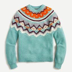 Zigzag Fair Isle sweater | J.Crew US