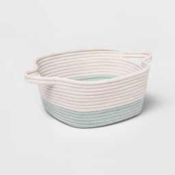 Square Coiled Rope Bin with Color Band - Cloud Island™ | Target