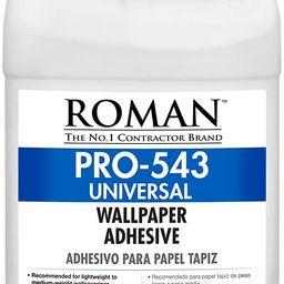 ROMAN PRO-543 Universal Wallpaper and Border Adhesive, 1 Gallon   250 Sq. Ft.   Amazon (US)