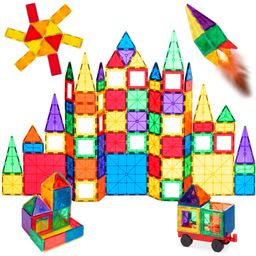 Best Choice Products 110-Piece Kids Magnetic Tiles Set Construction Building Blocks Educational S...   Walmart (US)