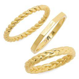 Set of 3 Braided Rings   Nordstrom