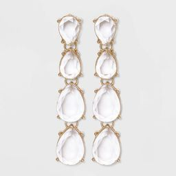 Gold with Faceted Cabochons Drop, linear and Statement Earrings - A New Day™ | Target