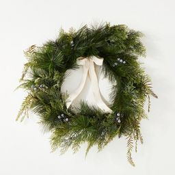 """28"""" Long Needle with Blueberries and Ribbon Wreath - Threshold™ designed with Studio McGee   Target"""